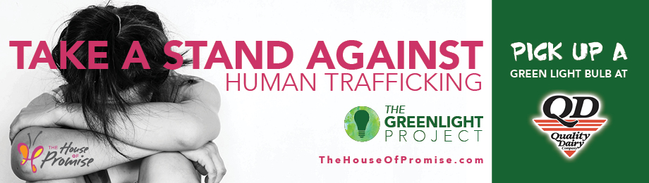 Shine a green light and take a stand against Human Trafficking